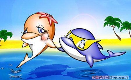 吉祥物海豚